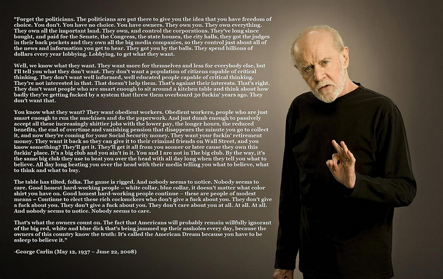 George Carlin on Politicians