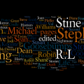 Wordle word cloud of books I read in 2008