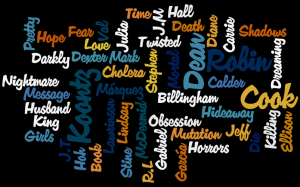 Wordle word cloud of books I read in August 2008