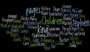 Wordle word cloud of books I read in December 2008