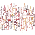 Wordle word cloud of books I read in June 2008