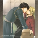 Roy Mustang and Edward Elric from the series Full Metal Alchemist combined to create the couple RoyEd.