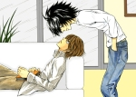L and Light from the anime series Deathnote.