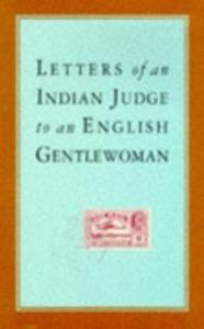 Letters of an Indian Judge to an English Gentlewoman book cover
