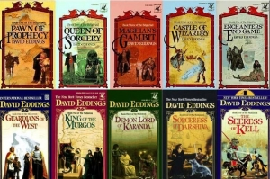 The Belgariad book covers by David Eddings and Leigh Eddings