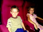 My cheeky son Storm and my beautiful daughter Yasmine on their first trip to the cinema