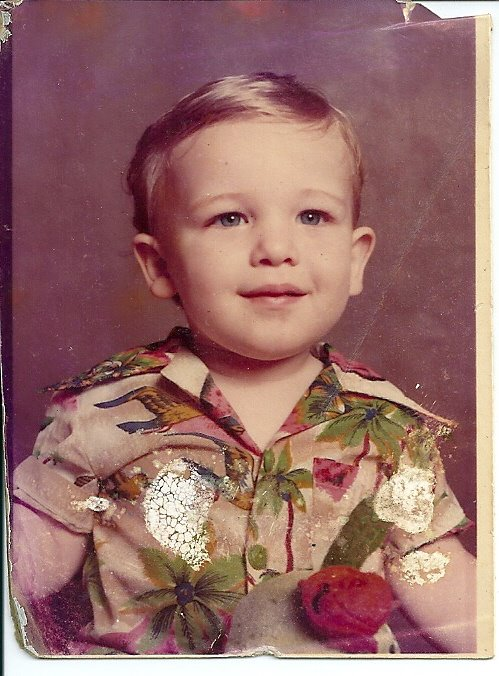 A photograph of my younger brother Adam as a little boy.