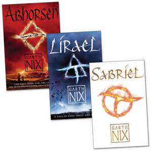 Book Covers of Sabriel, Lirael and Abhorsen by Australian author Garth Nix