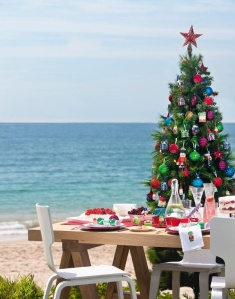Christmas Tree and meal at the beach