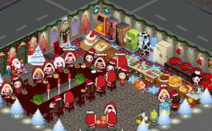 MMeat and Mead (my cafeland cafe) is all decked out for Xmas!