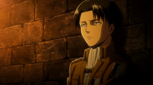 Levi in Eren's cell shingeki no kyojin