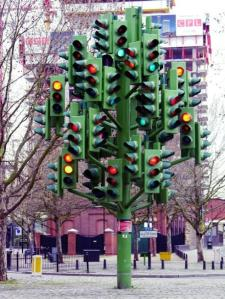 Traffic light Xmas Tree