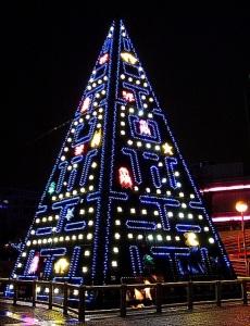 Pac-Man Xmas Tree