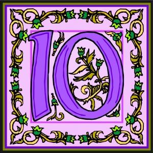 Flowery Number 10 Free Public Domain Image bloemrijk-paars-getal-10