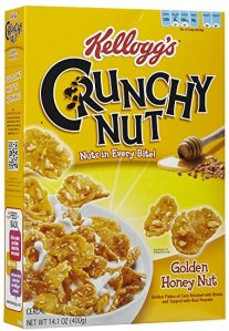 Box of Kellogg's Crunchy Nut Cornflakes