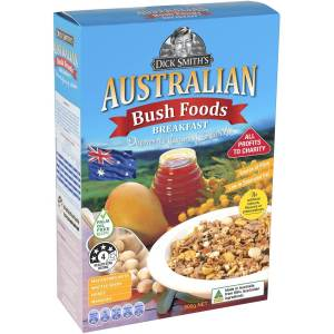 Box of Dick Smith's Australian Bush Foods Cereal