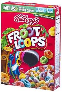 Box of Kellogg's Fruit Loops