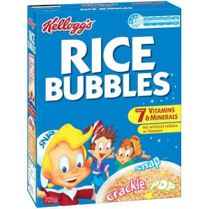 Box of Kellogg's Rice Bubbles